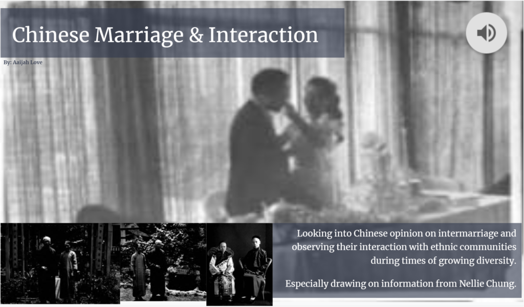 Chinese Marriage Interaction - Aaijah Love